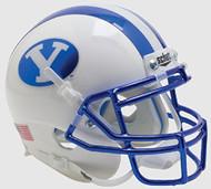 BYU Brigham Young Cougars Alternate Chrome Schutt Mini Authentic Football Helmet