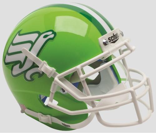 North Texas Mean Green Flying Worm Schutt Mini Authentic Football Helmet