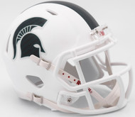 Michigan State Spartans Aternate White Revolution SPEED Mini Helmet