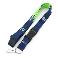 NFL Seattle Seahawks Slogan Lanyard Fan Keychain