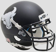 Buffalo Bulls Alternate Black Bullhead Schutt Mini Authentic Football Helmet