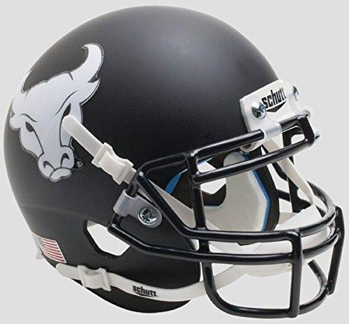 Buffalo Bulls Alternate Black Bullhead Schutt Mini Authentic Football Helmet