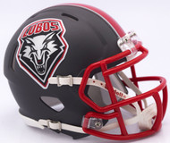 New Mexico Lobos Matte Gray Revolution SPEED Mini Helmet