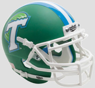 Tulane Green Wave Alternate Green Schutt Mini Authentic Football Helmet