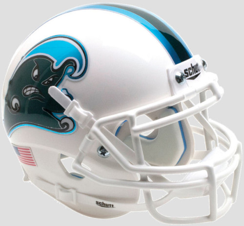 Tulane Green Wave Alternate Angry Wave Schutt Mini Authentic Football Helmet