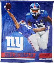 "NFL Odell Beckham Jr. New York Giants Silk Touch Throw Blanket Size 50"" x 60"""