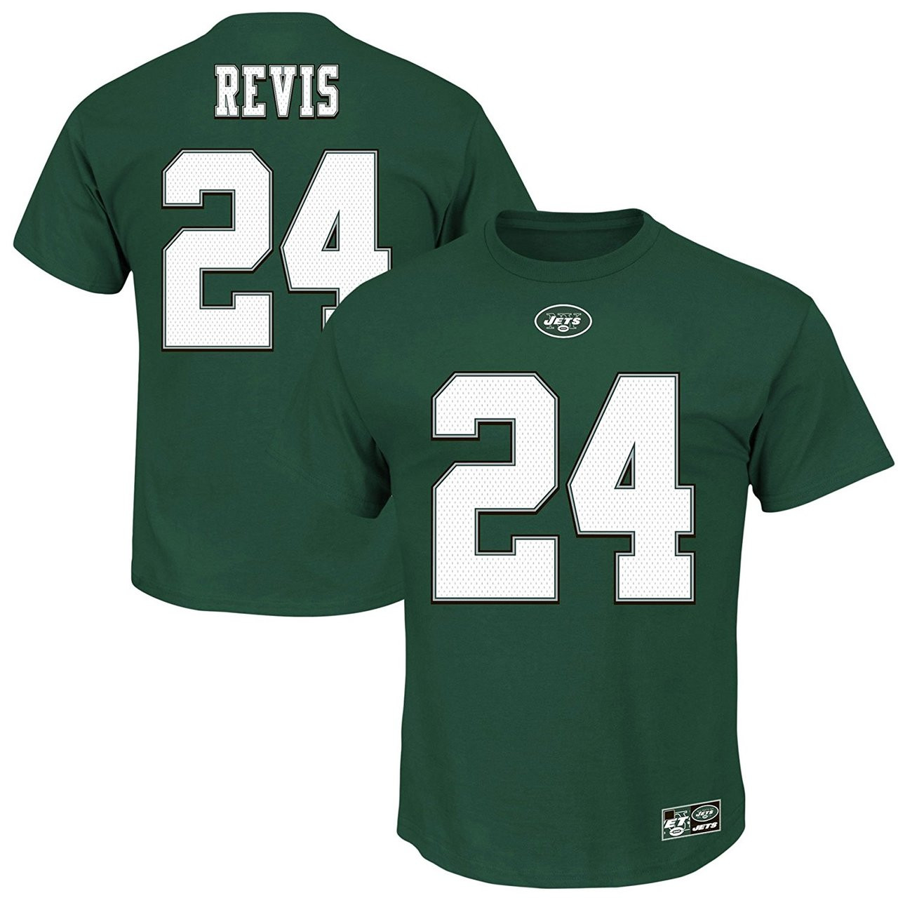 bef10973 Darrelle Revis New York Jets Green Eligible Receiver II Jersey Name and  Number T-shirt
