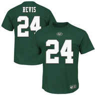 Darrelle Revis New York Jets Green Eligible Receiver II Jersey Name and Number T-shirt