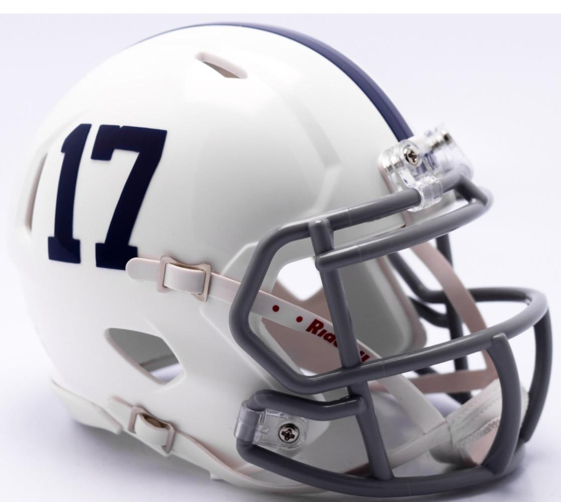 College Mini Helmets Sports Memorabilia Riddell Penn State Nittany Lions Revolution Speed Mini Football Helmet