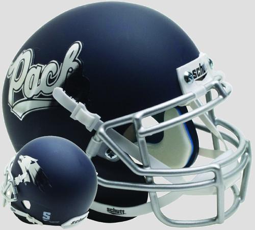 Nevada-Reno Wolfpack Alternate Matte Navy Schutt Mini Authentic Football Helmet