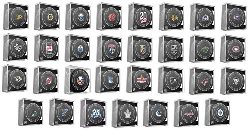 65d130fd5 All 31 NHL Sherwood 2017-18 Official NHL Game Pucks - Collectible ...