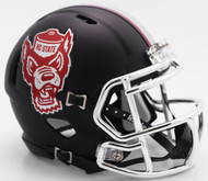 North Carolina State Wolfpack Alternate Black Tuffy NCAA Riddell SPEED Mini Helmet