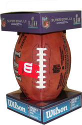 Super Bowl LII (Fifty-Two 52) New England Patriots vs. Philadelphia Eagles Official Leather Authentic Game Football by Wilson