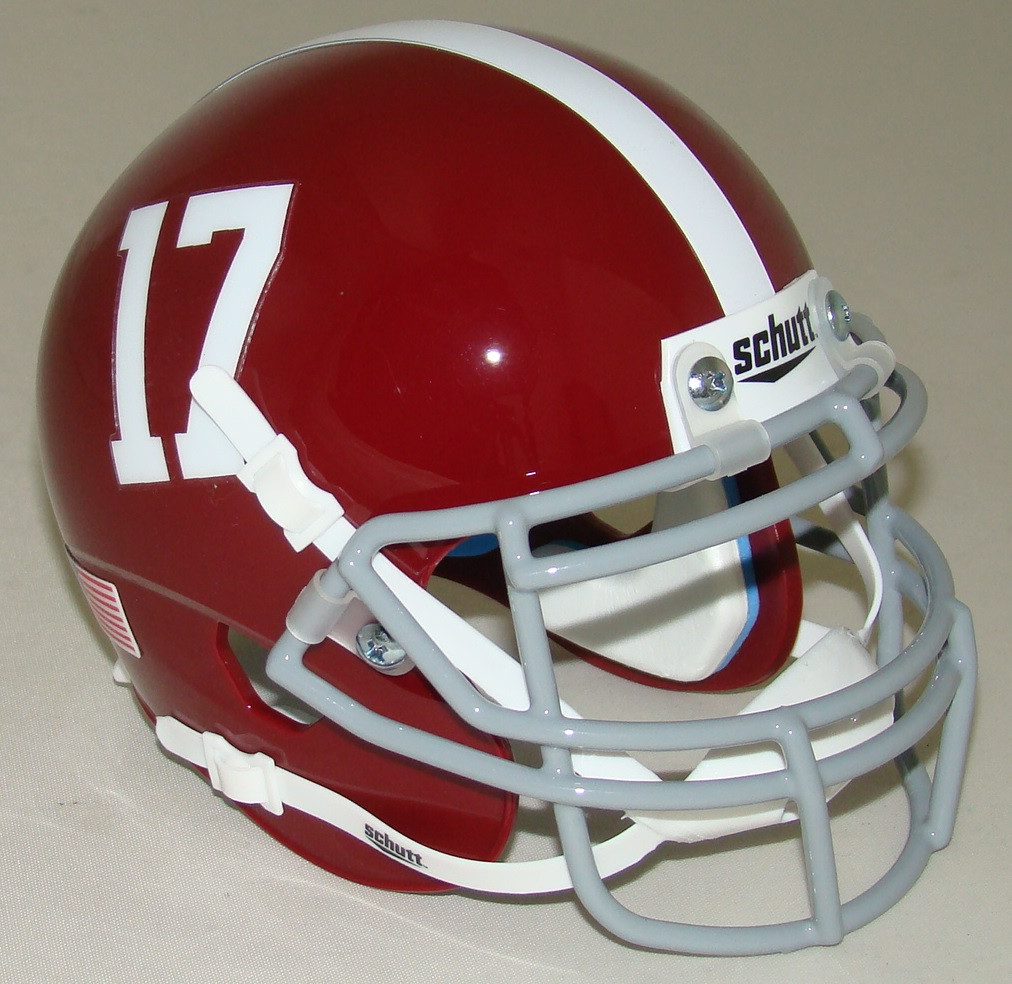 best sneakers 906c8 7bd9e Alabama Crimson Tide #17 Schutt Mini Authentic Helmet