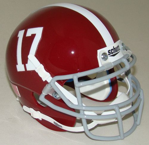 Alabama Crimson Tide #17 Schutt Mini Authentic Football Helmet