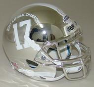 Alabama Crimson Tide Alternate CHROME Special 2017 FBS NCAA National Champions Schutt Authentic Mini Helmet