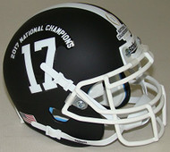 Alabama Crimson Tide Alternate BLACK Special 2017 FBS NCAA National Champions Schutt Authentic Mini Helmet