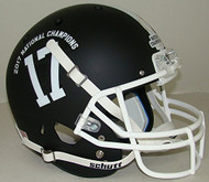 Alabama Crimson Tide Alternate Black Special 2017 FBS National Champions NCAA Schutt Full Size Replica Helmet