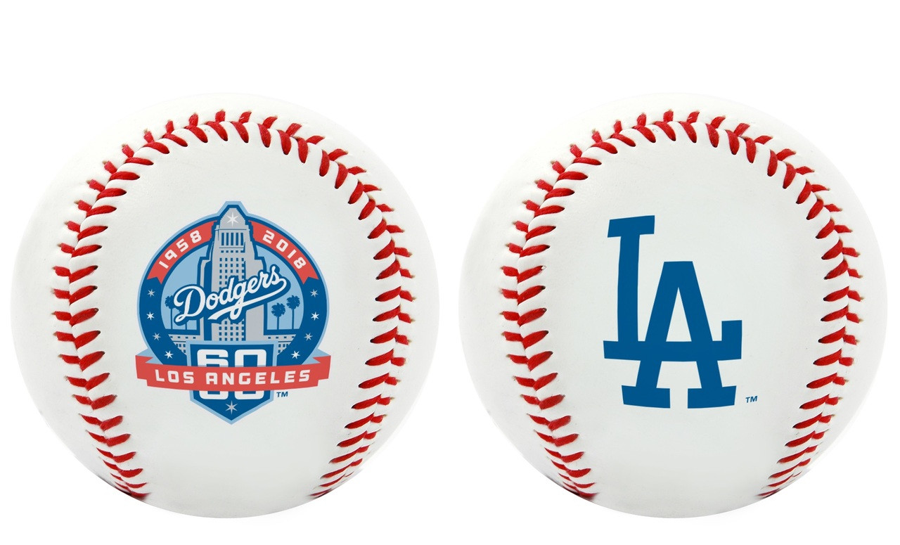 56968530f49 MLB Los Angeles Dodgers 60th Anniversary Collectible Souvenir Replica  Baseball by Rawlings. Rawlings · Image 1