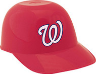 Washington Nationals MLB 8oz Snack Size / Ice Cream Mini Baseball Helmets - Quantity 6