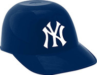 New York Yankees MLB 8oz Snack Size / Ice Cream Mini Baseball Helmets - Quantity 6