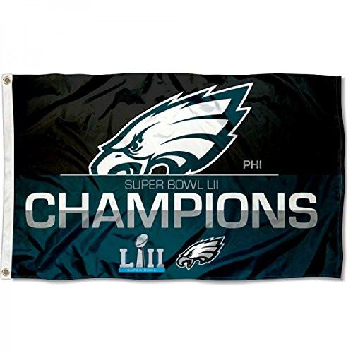 buy popular 0e405 9a337 Philadelphia Eagles Super Bowl LII 52 Champions Deluxe Banner Flag - 3' X 5'