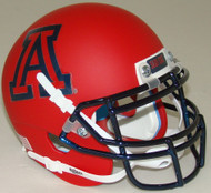 Arizona Wildcats Matte Scarlet Schutt Mini Authentic Football Helmet