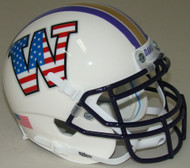 Washington Huskies Alternate Patriotic Schutt Mini Authentic Football Helmet