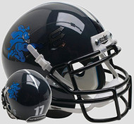 Duke Blue Devils Black Chrome Schutt Mini Authentic Helmet