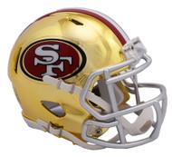 San Francisco 49ers Riddell Speed Mini Helmet - Chrome Alternate