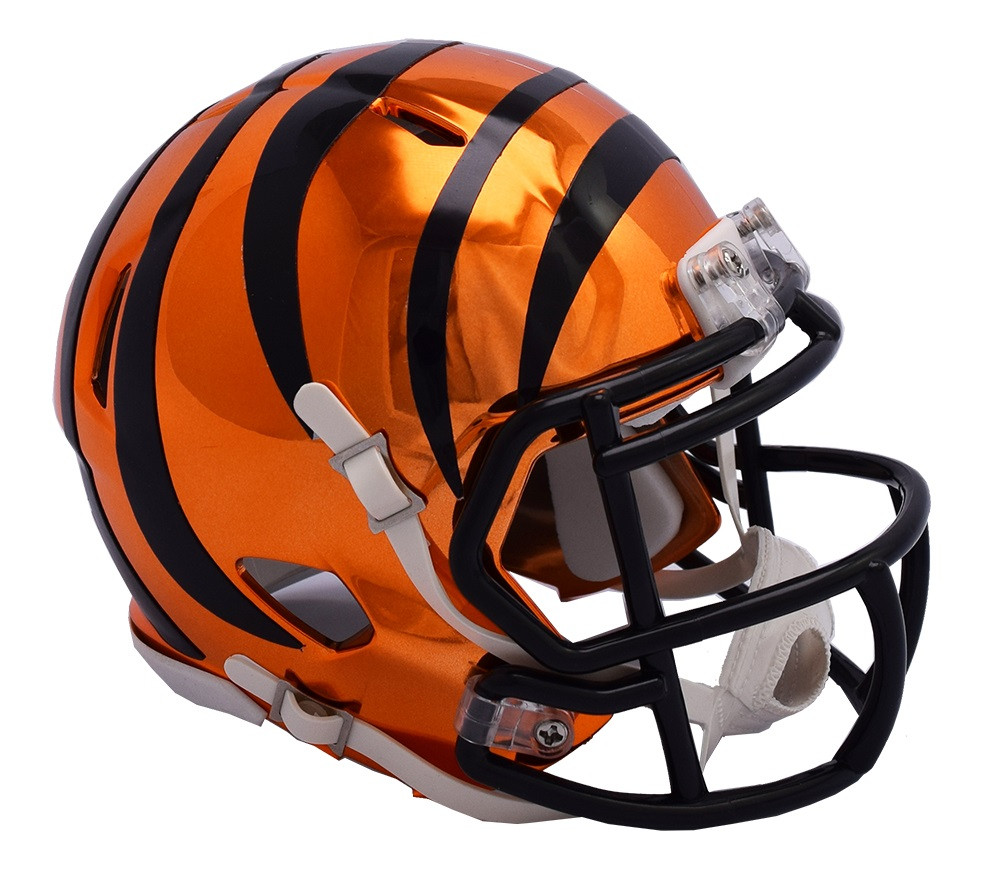 98f1ad74d4f Cincinnati Bengals Riddell Speed Mini Helmet - Chrome Alternate. Riddell.  Image 1
