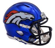 Denver Broncos Riddell Speed Mini Helmet - Chrome Alternate