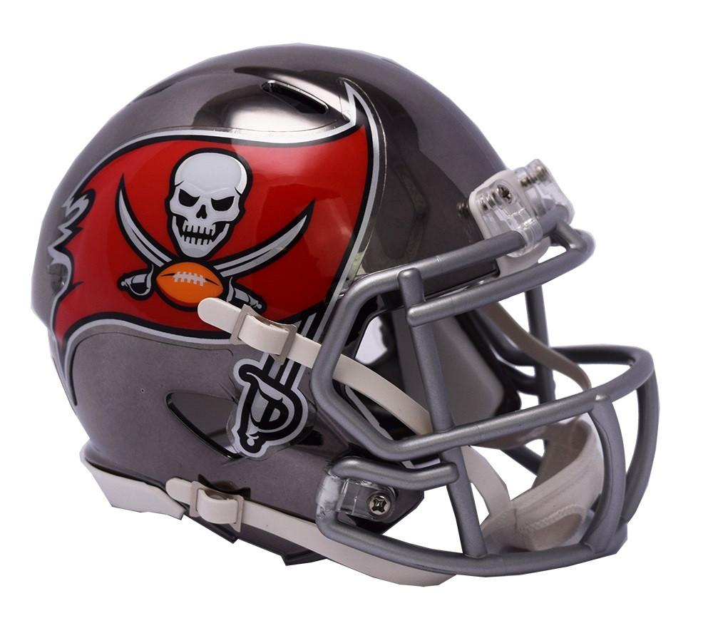 Tampa Bay Buccaneers Riddell Speed Mini Helmet - Chrome Alternate. Riddell.  Image 1 68869a1c3