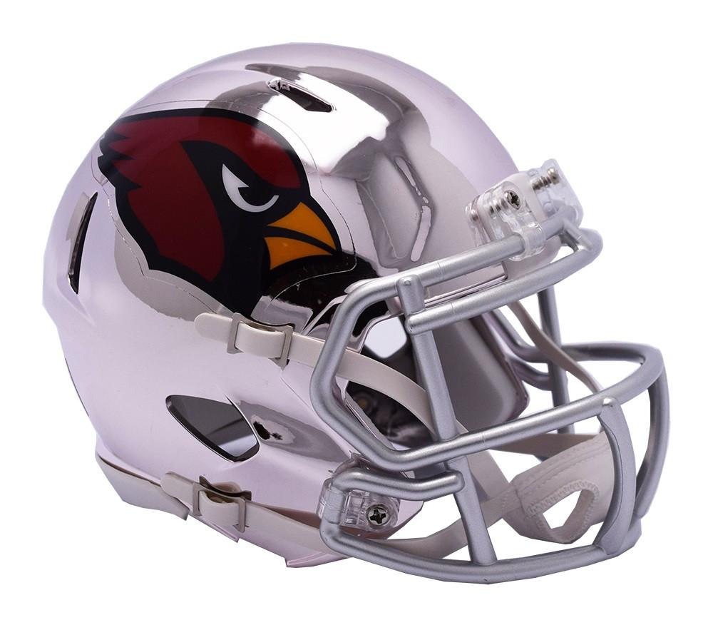 5a98b466 Arizona Cardinals Riddell Speed Mini Helmet - Chrome Alternate