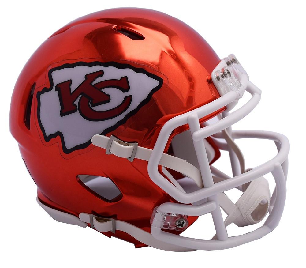 c60f405e646 Kansas City Chiefs Riddell Speed Mini Helmet - Chrome Alternate. Riddell.  Image 1
