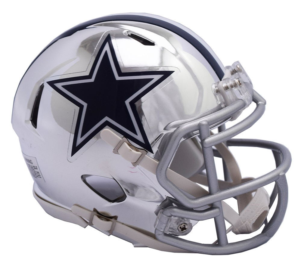 227fb5cd404 Dallas Cowboys Riddell Speed Mini Helmet - Chrome Alternate ...