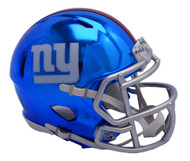 New York Giants Riddell Speed Mini Helmet - Chrome Alternate