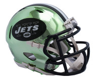 New York Jets Riddell Speed Mini Helmet - Chrome Alternate