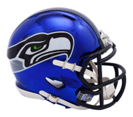 Seattle Seahawks Riddell Speed Mini Helmet - Chrome Alternate