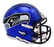 Seattle Seahawks Riddell Speed Mini Helmet - Chrome Alternate