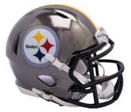 Pittsburgh Steelers Riddell Speed Mini Helmet - Chrome Alternate