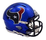 Houston Texans Riddell Speed Mini Helmet - Chrome Alternate