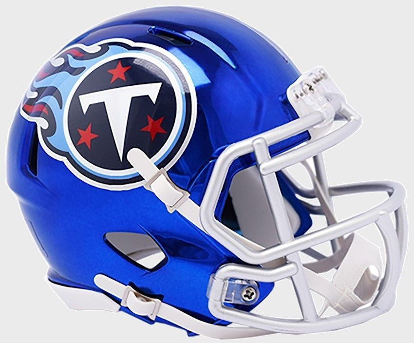 b582f05d337 Tennessee Titans Riddell Speed Mini Helmet - Chrome Alternate. Riddell.  Image 1