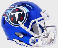 Tennessee Titans Riddell Speed Mini Helmet - Chrome Alternate
