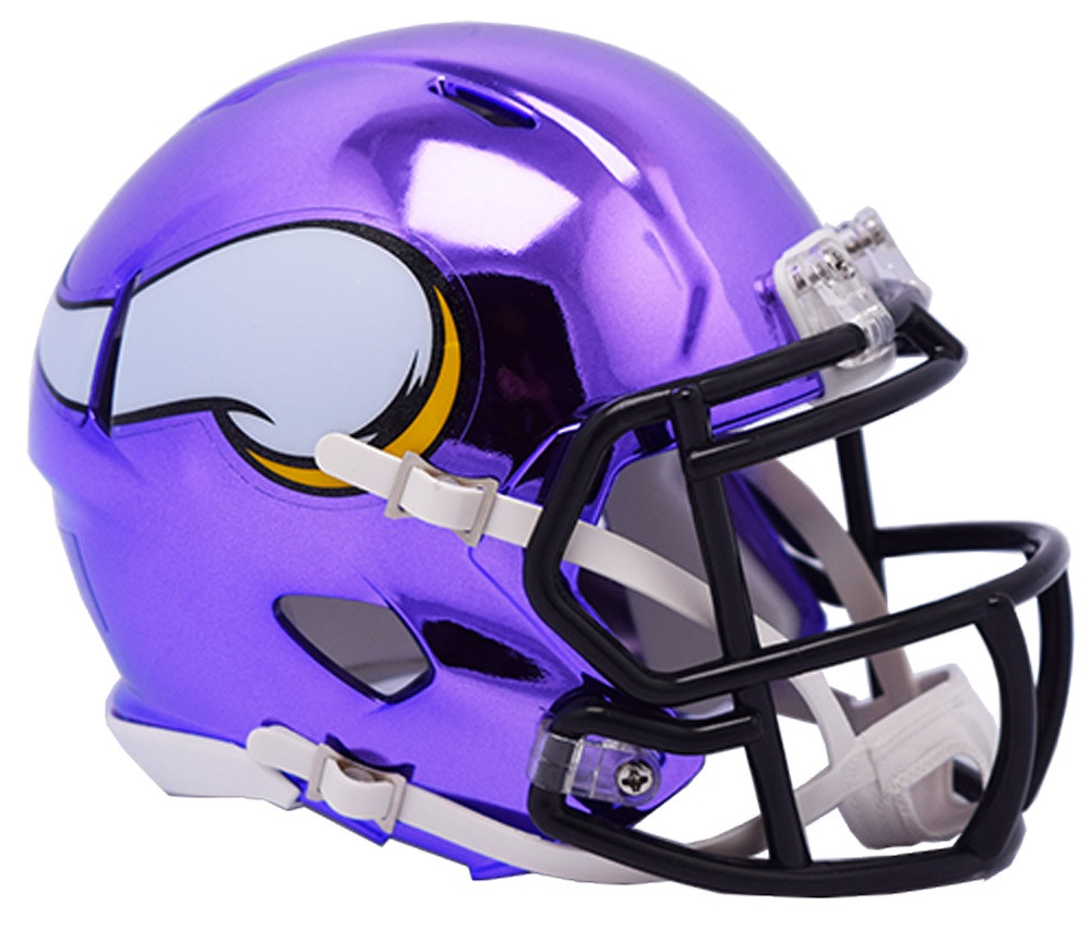 4efcec1010b Minnesota Vikings Riddell Speed Mini Helmet - Chrome Alternate ...