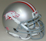 Arkansas Razorbacks Alternate Gray Schutt Mini Authentic Helmet