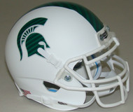 Michigan State Spartans Alternate White Schutt Mini Authentic Helmet