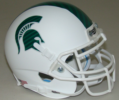 Michigan State Spartans Alternate White Schutt Mini Authentic Football Helmet