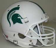 Michigan State Spartans Matte White Schutt Full Size Replica XP Football Helmet