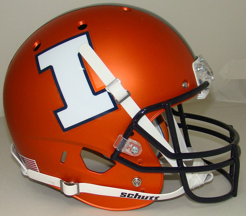 Illinois Fighting Illini Alternate Matte Orange Schutt Full Size Replica XP Football Helmet